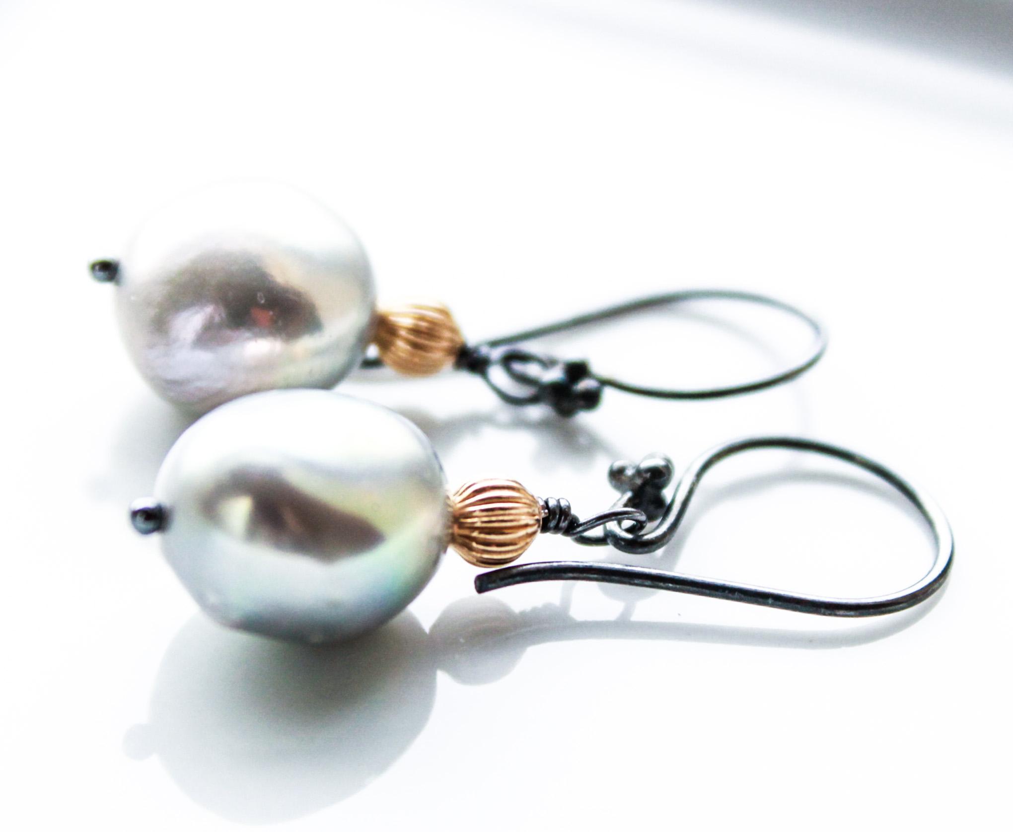 weddings Pearl earrings bridesmaid gift dangle earrings tiny pearl gold earrings 14k gold filled bridal earrings modern earrings